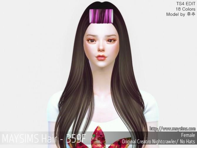 Sims 4 Hair 359F (Nightcrawler) at May Sims
