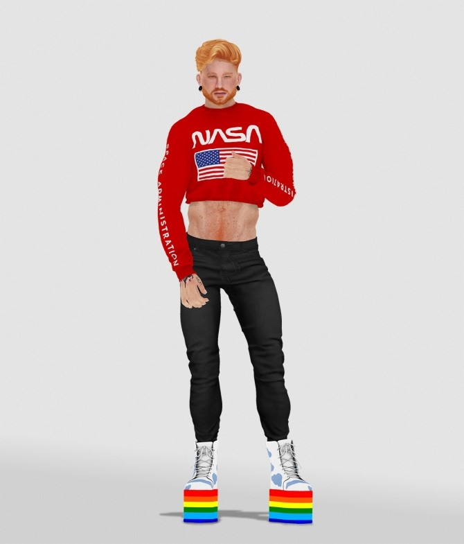 GUSTAVO CROPPED top by Thiago Mitchell at REDHEADSIMS image 11416 670x785 Sims 4 Updates