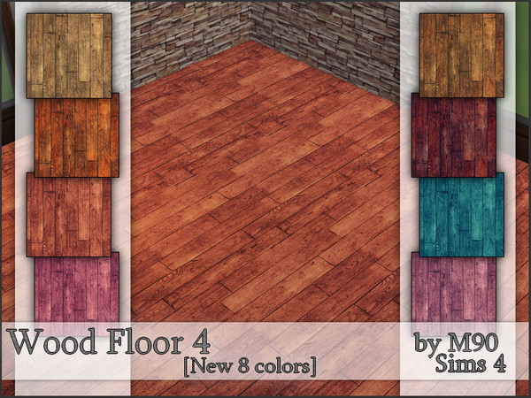 Sims 4 M90 Wood Floor 4 by Mircia90 at TSR