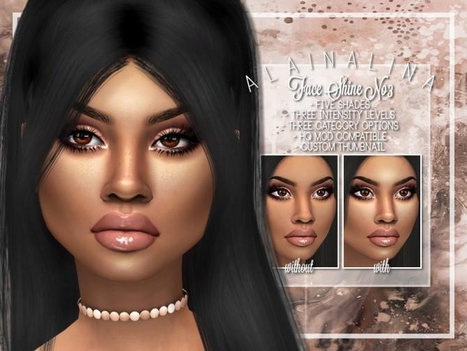 Face Shine No3 at AlainaLina image 11715 670x503 Sims 4 Updates