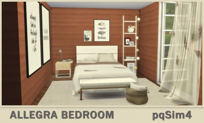 Sims 4 Allegra Bedroom at pqSims4