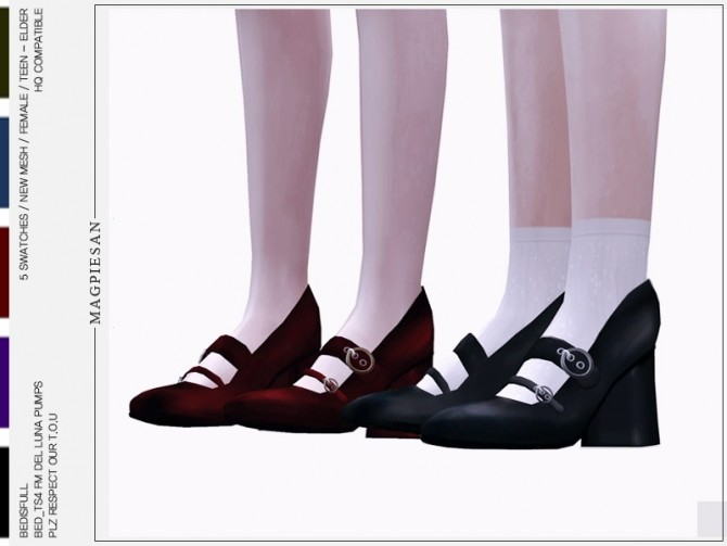 FM Del luna pumps heel at Bedisfull – iridescent image 1209 670x503 Sims 4 Updates
