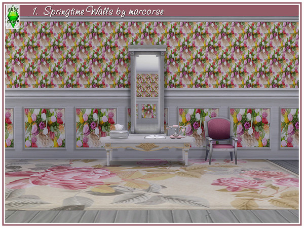 Springtime Walls by marcorse at TSR image 121 Sims 4 Updates