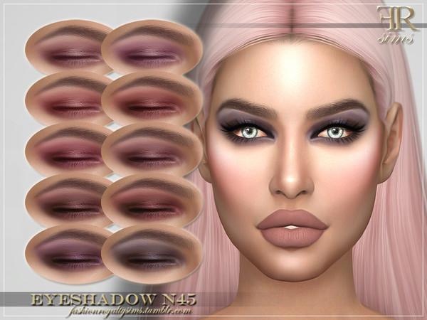 Sims 4 FRS Eyeshadow N45 by FashionRoyaltySims at TSR