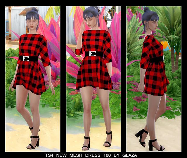 Sims 4 Dress 100 at All by Glaza