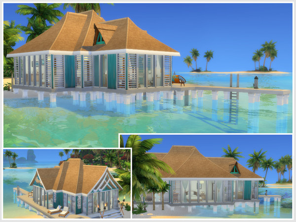 Sims 4 Sea breeze house by philo at TSR