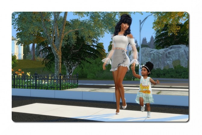 Sims 4 Dress, Socks, Headband & Sneakers at Sims4 Boutique