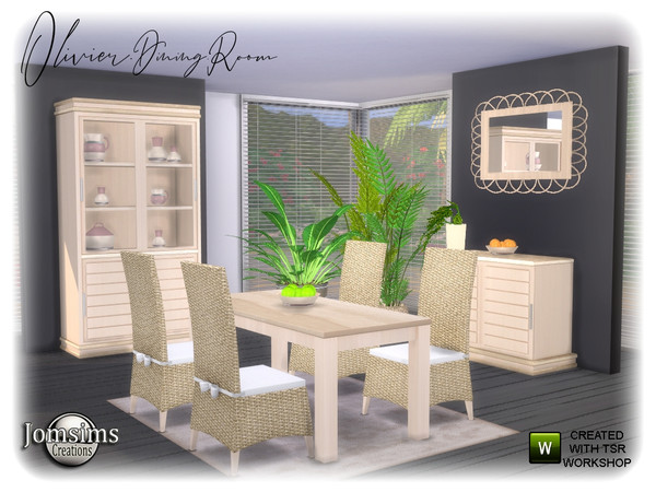 Olivier Dining room by jomsims at TSR image 1268 Sims 4 Updates