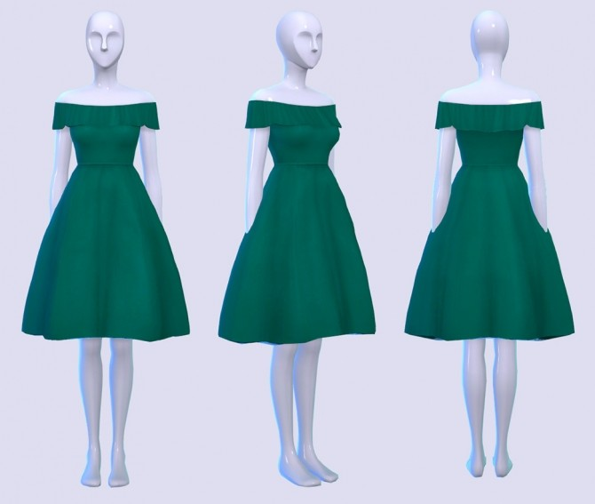 Sims 4 Puff and Frill Dress at Pickypikachu