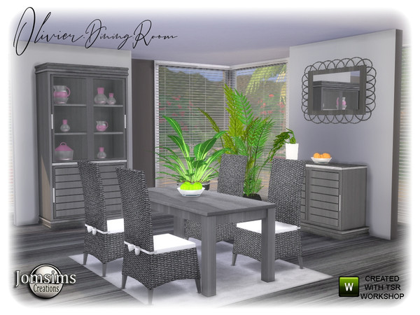 Olivier Dining room by jomsims at TSR image 1277 Sims 4 Updates