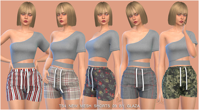 Shorts 09 at All by Glaza image 12810 Sims 4 Updates