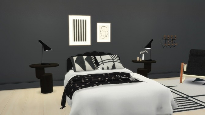 Sims 4 DELIA BED at Meinkatz Creations