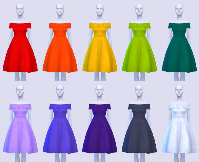 Puff and Frill Dress at Pickypikachu image 1285 670x544 Sims 4 Updates