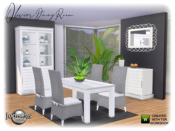Olivier Dining room by jomsims at TSR image 1287 Sims 4 Updates
