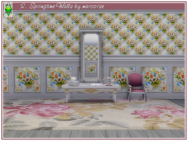 Springtime Walls by marcorse at TSR image 131 Sims 4 Updates