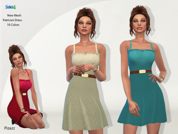 Sims 4 Patricias Dress by pizazz at TSR