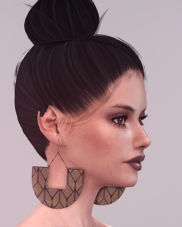 Tribal Dangle Earrings by daer0n at Blooming Rosy image 13111 Sims 4 Updates