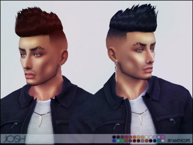 Sims 4 Josh hair by Mathcope at Sims 4 Studio