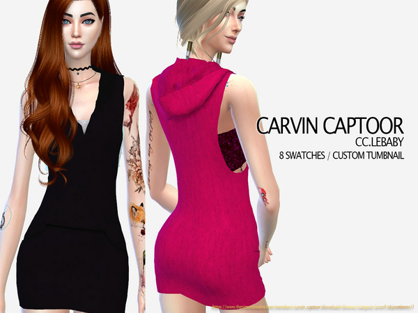 Sims 4 Lebaby dress by carvin captoor at TSR