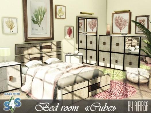 Sims 4 Cube bedroom at Aifirsa