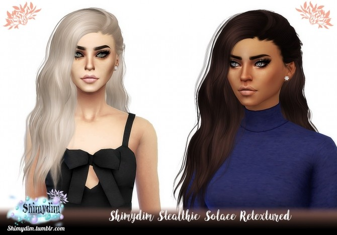 Sims 4 Stealthic Solace Hair Retexture Naturals + Unnaturals at Shimydim Sims