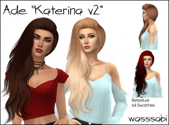 Sims 4 Ade Katerina v2 hair retexture at Wasssabi Sims