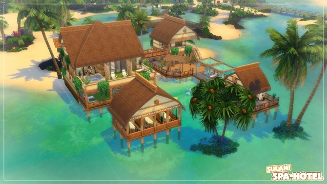 Sims 4 Sulani Spa Hotel no CC by Axaba at Mod The Sims