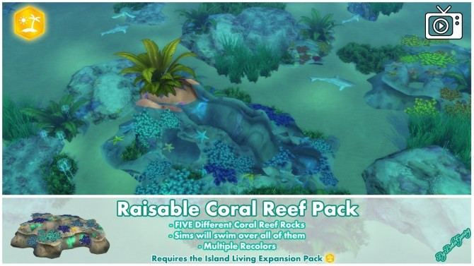 Raisable Coral Reef Pack by Bakie at Mod The Sims image 1347 670x377 Sims 4 Updates