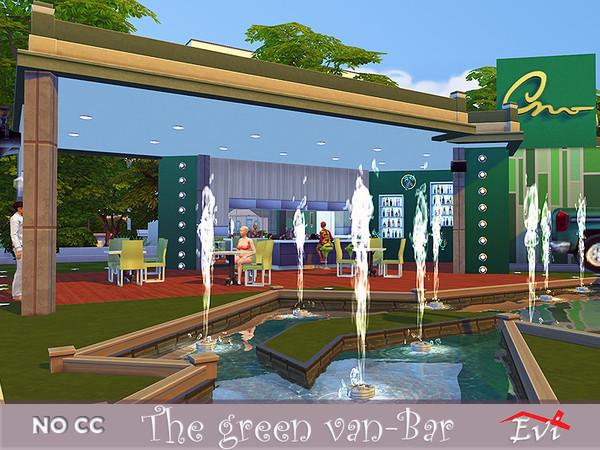 Sims 4 The Green Van Bar by evi at TSR