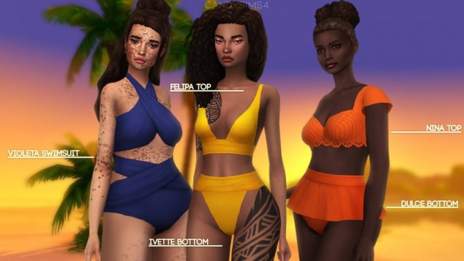 Sims 4 TROPICO SWIMWEAR COLLECTION at Candy Sims 4