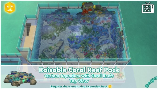 Raisable Coral Reef Pack by Bakie at Mod The Sims image 1357 670x377 Sims 4 Updates