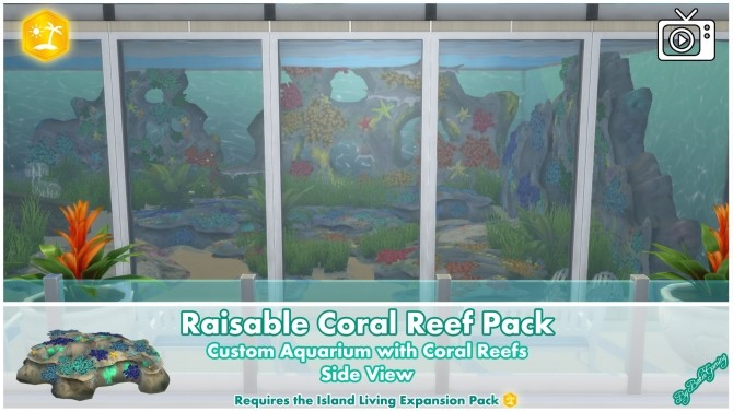 Raisable Coral Reef Pack by Bakie at Mod The Sims image 1367 670x377 Sims 4 Updates
