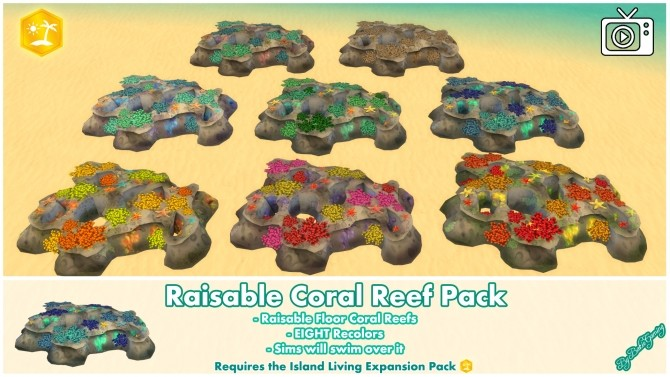 Raisable Coral Reef Pack by Bakie at Mod The Sims image 1377 670x377 Sims 4 Updates
