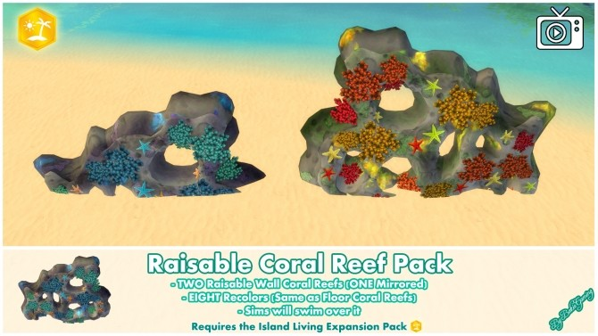 Raisable Coral Reef Pack by Bakie at Mod The Sims image 1387 670x377 Sims 4 Updates