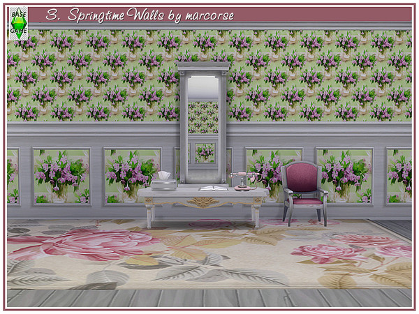 Springtime Walls by marcorse at TSR image 141 Sims 4 Updates