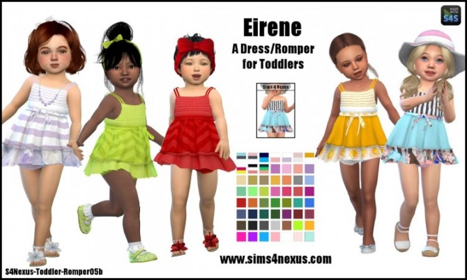 Sims 4 Eirene dress by SamanthaGump at Sims 4 Nexus