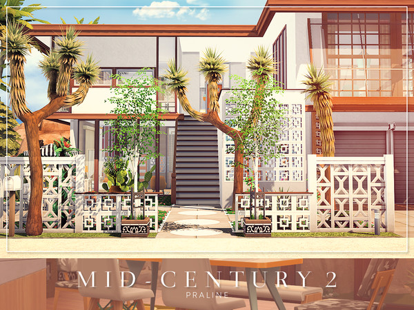 Mid Century 2 house by Pralinesims at TSR image 1425 Sims 4 Updates