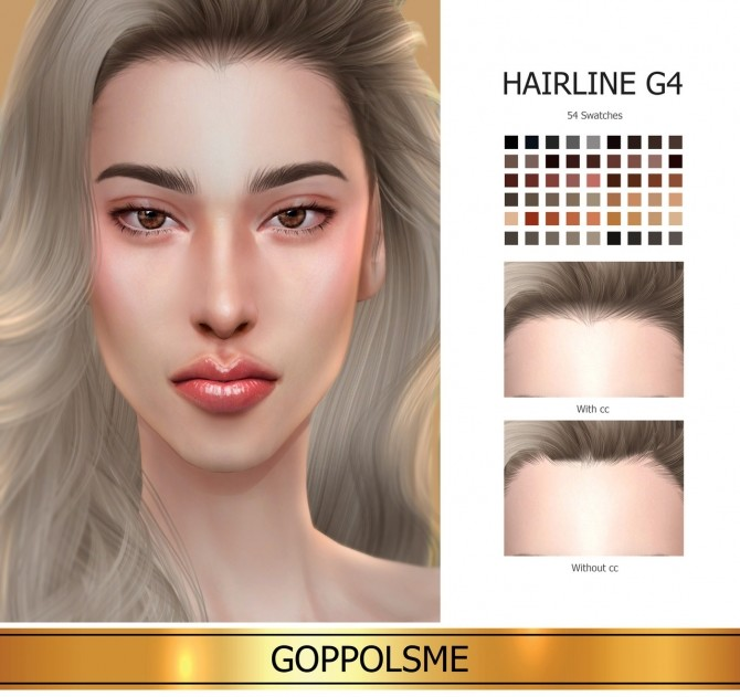 Sims 4 GPME GOLD Hairline G4 (P) at GOPPOLS Me