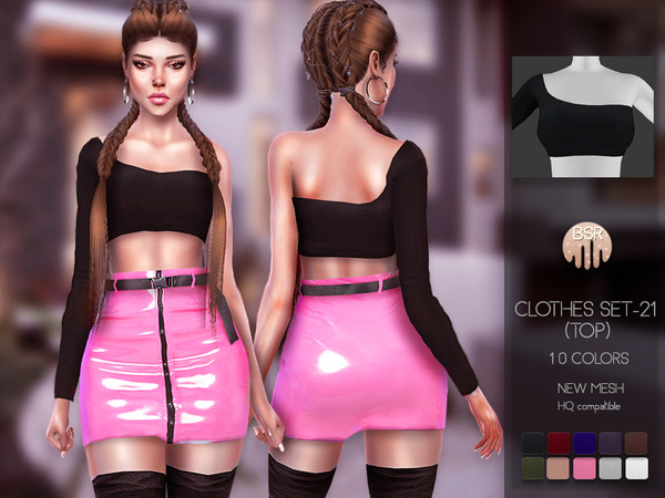 Sims 4 Clothes SET 21 (TOP) BD90 by busra tr at TSR