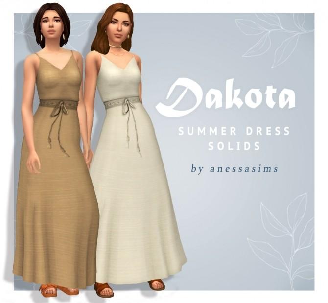 Sims 4 Dakota summer dress at Anessa Sims