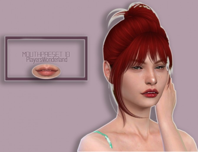 Mouth Preset 10 at PW's Creations image 1487 670x517 Sims 4 Updates
