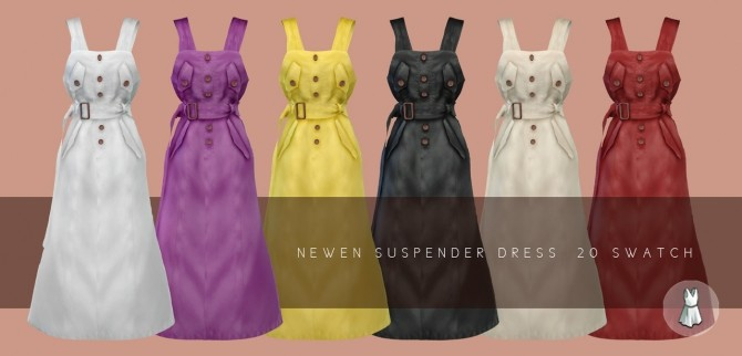 Suspender Long Dress at NEWEN image 1499 670x322 Sims 4 Updates