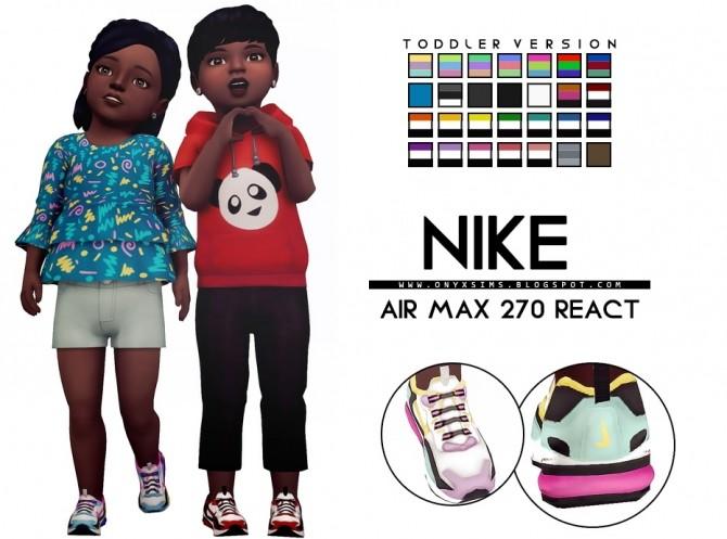 Sims 4 Air Max 270 React Toddler Version at Onyx Sims