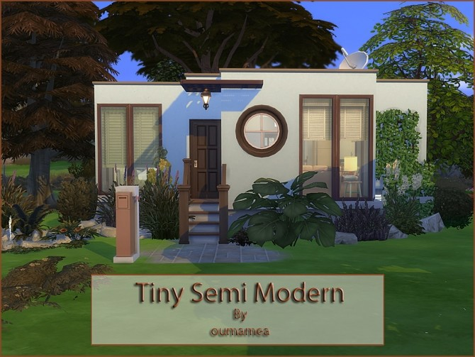 Mea Tiny Semi Modern house by oumamea at Mod The Sims image 1504 670x503 Sims 4 Updates