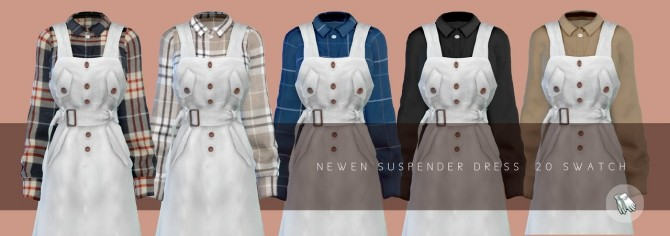 Suspender Long Dress at NEWEN image 1508 670x236 Sims 4 Updates
