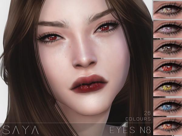 Sims 4 Eyes N8 by SayaSims at TSR