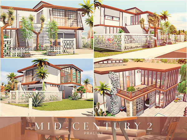 Mid Century 2 house by Pralinesims at TSR image 1519 Sims 4 Updates