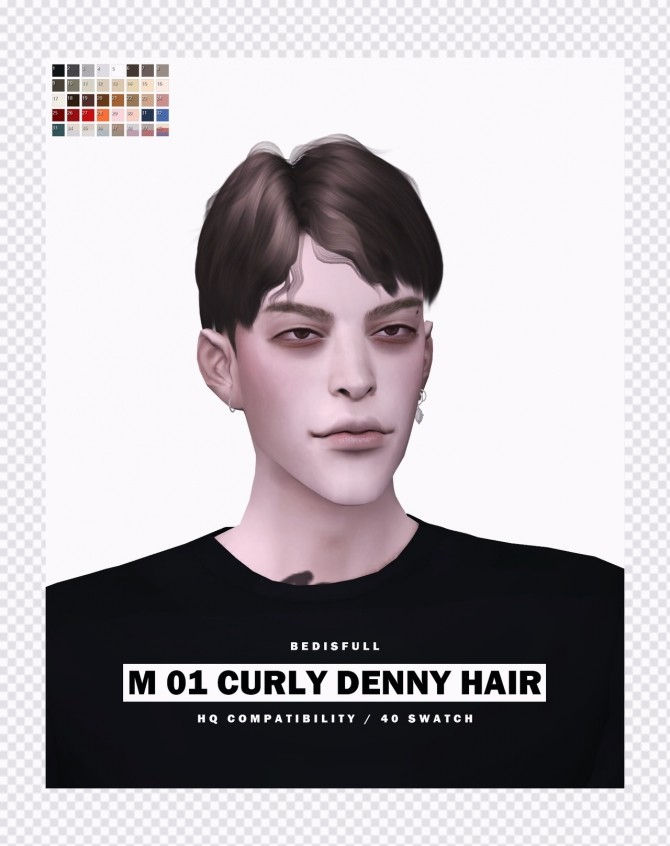 M 01 Curly Denny hair at Bedisfull – iridescent image 15210 670x846 Sims 4 Updates