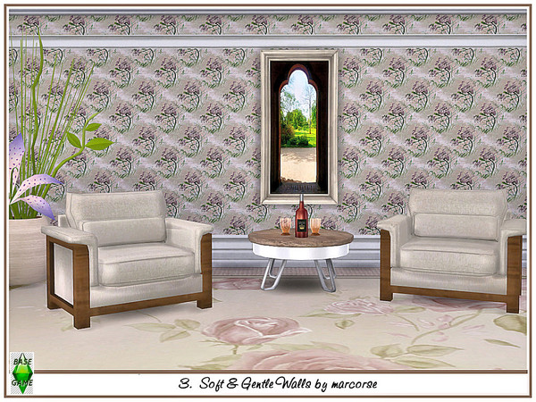 Sims 4 Soft & Gentle Walls by marcorse at TSR