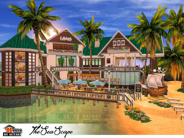 The Sea Scape restaurant by autaki at TSR image 1540 Sims 4 Updates